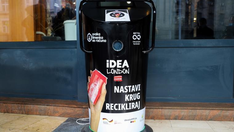 Postavljena pametna presa za recikliranje limenki u centru Beograda